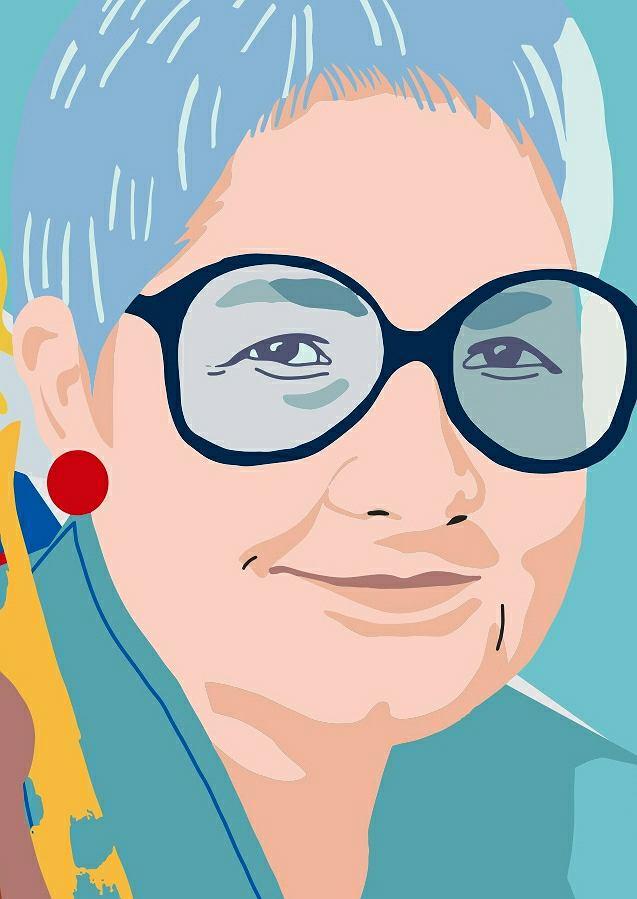 Barbara Labuda, fragment muralu 'Kobiety Wolności'