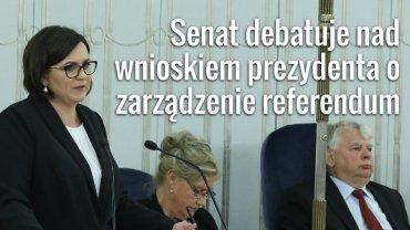 Debata nad wnioskiem prezydenta o zarządzenie referendum