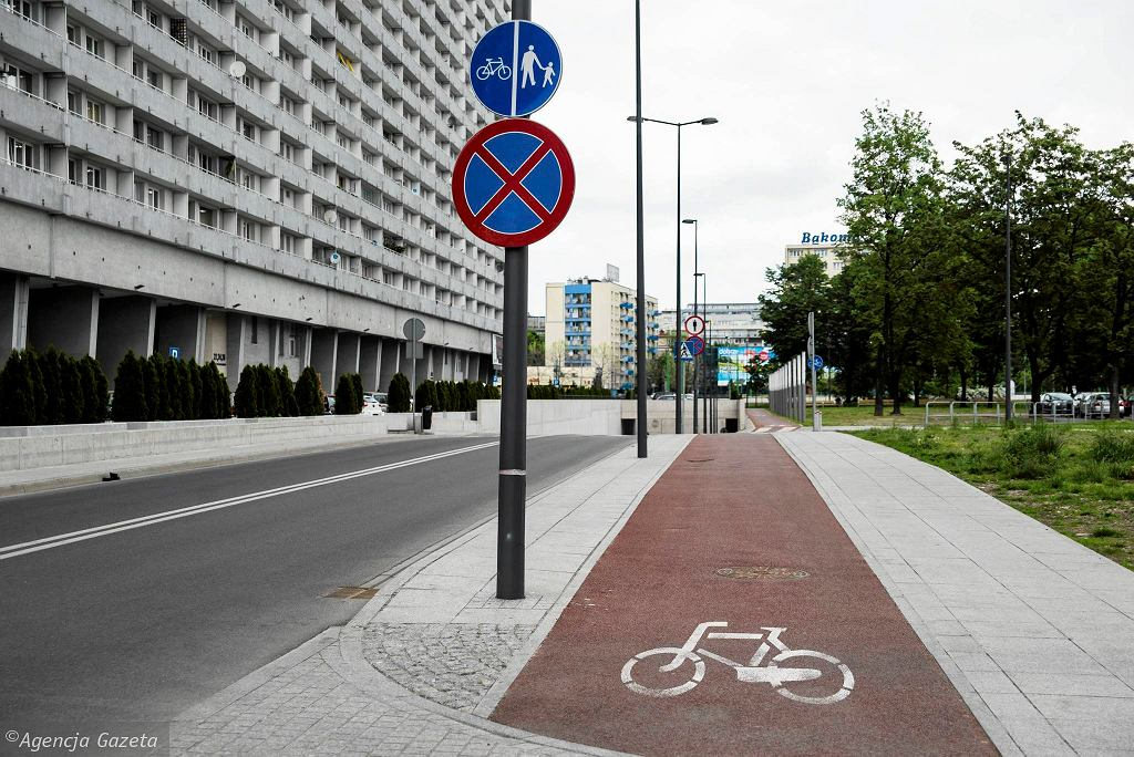 Droga rowerowa wzdłuż ul. Wincklera w Katowicach