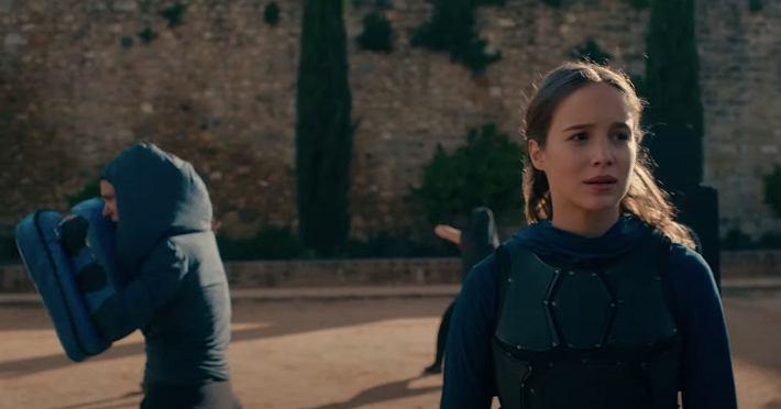 kadr z serialu 'Warrior Nun'