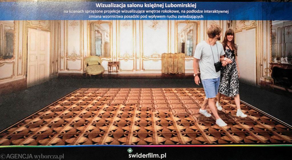 Wizualizacja interaktywnej podłogi w Oranżerii