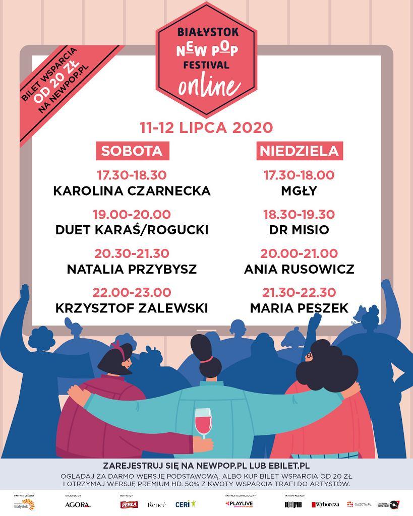 Białystok New Pop Festival 11-12 lipca pod Pałacem Branickich. Do ogłoszonej już wcześniej festiwalowej ekipy dołączą: Ania Rusowicz, Dr Misio i Mgły