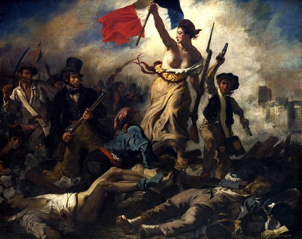 Eug?ne Delacroix, 'Wolność wiodąca lud na Baruykady'.  Algorytmy facebooka ocenzurowały obraz 'w trosce o moralność użytkownika'