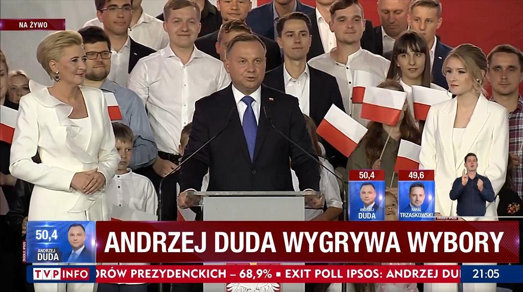 Andrzej Duda TVP Info