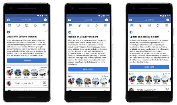 Facebook informuje ofiary wycieku danych