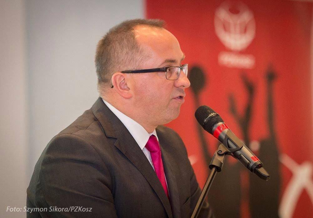 Prezes PZKosz Grzegorz Bachański