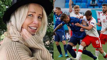 Agnieszka Woźniak-Starak komentuje, co myśli o meczu Polski ze Słowacją. Jej zdjęcie to hit