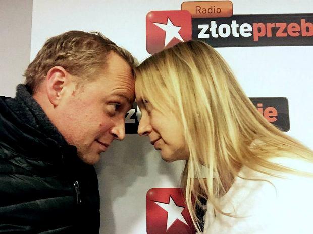 Piotr Adamczyk i Marzena Rogalska