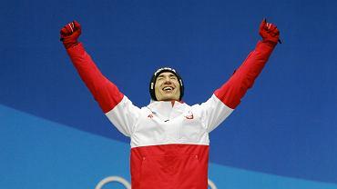 Kamil Stoch na podium - zdobył złoto na dużej skoczni. XXIII Zimowe Igrzyska Olimpijskie Pjongczang 2018, 18 lutego 2018