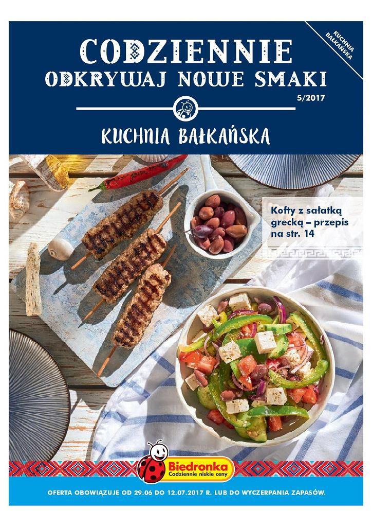 Kuchnia Bałkańska w sklepach sieci Biedronka