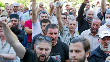 5.07.2021, manifestacja anty-LGBT w Tbilisi
