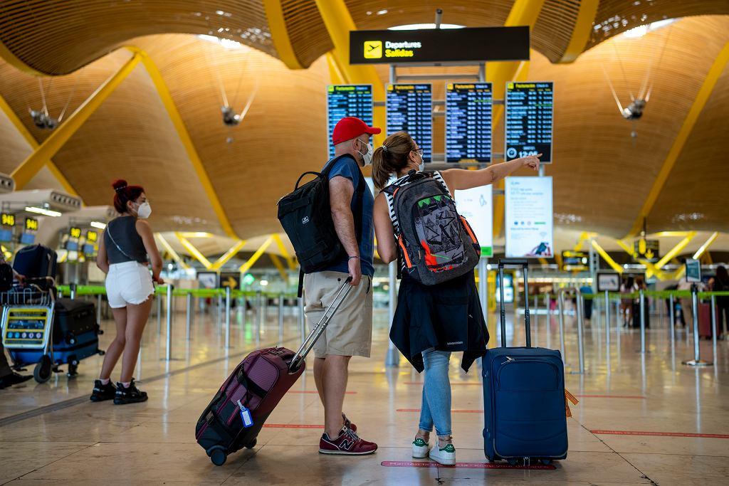 Lotnisko w Madrycie.