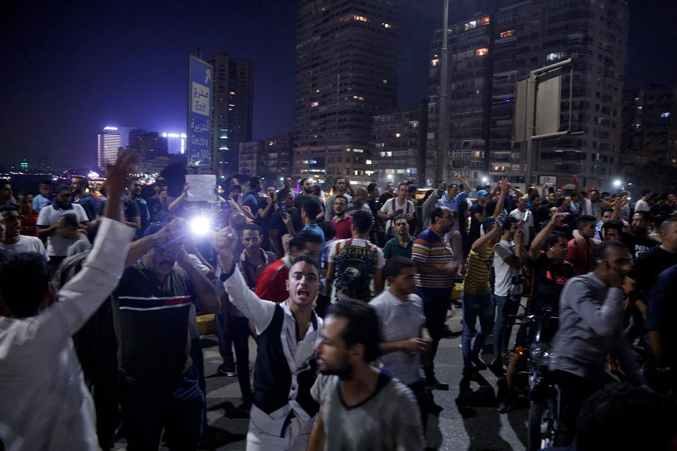 20.09.2019, Kair, protesty antyrządowe