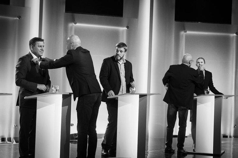 Adrian Zandberg przed debatą w TVP