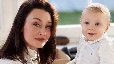 Natalia Jansen z dzieckiem