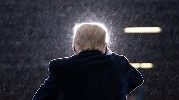 Prezydent Donald Trump podczas wiecu wyborczego