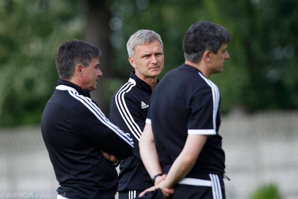 Marek Wleciałowski (w środku) z Waldemarem i Tomaszem Fornalikami