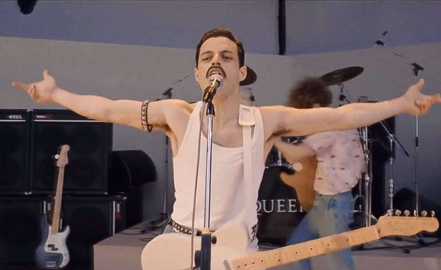 Bohemian Rhapsody - Live Aid, Crazy Little Thing Called Love Scene