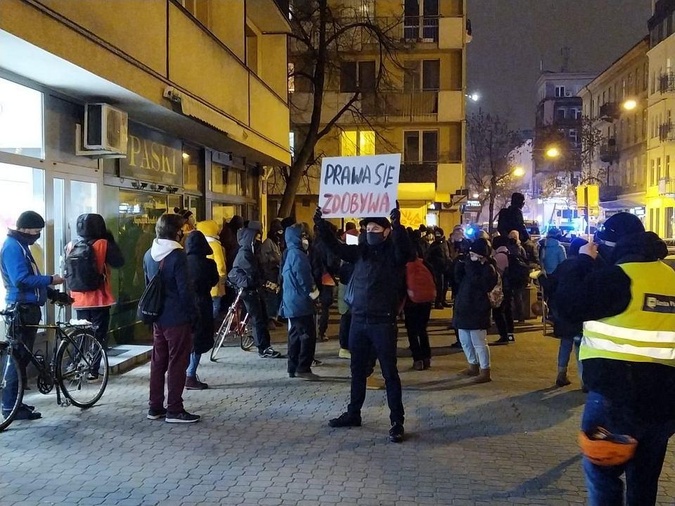 Protest solidarnościowy na Wilczej