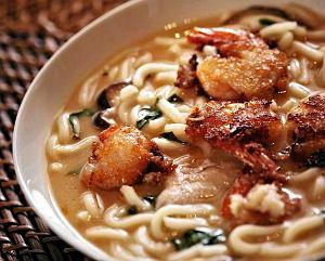 Zupa miso z krewetkami