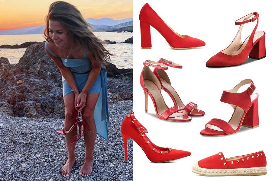 Kolaż, czerwone buty/Materiały partnera