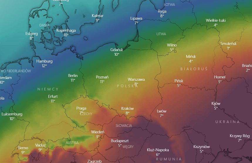 Pogoda nad Polską