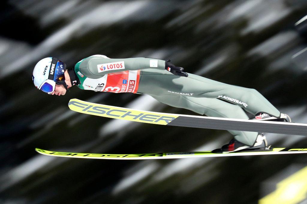 Kamil Stoch podczas Turnieju Czterech Skoczni