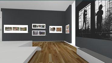 Ogólny widok na wystawę'Fotograficzny Atlas Epidemii', którą zwiedzać można w internecie na virturama.pl