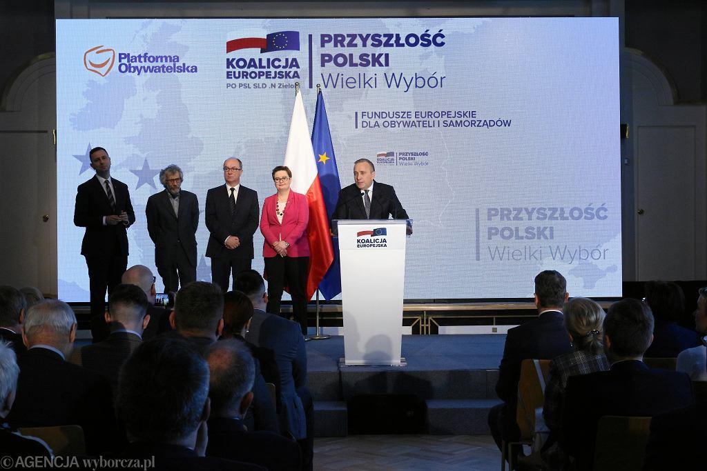 3Prezentacja hasel Koalicji Europejskiej w Warszawie