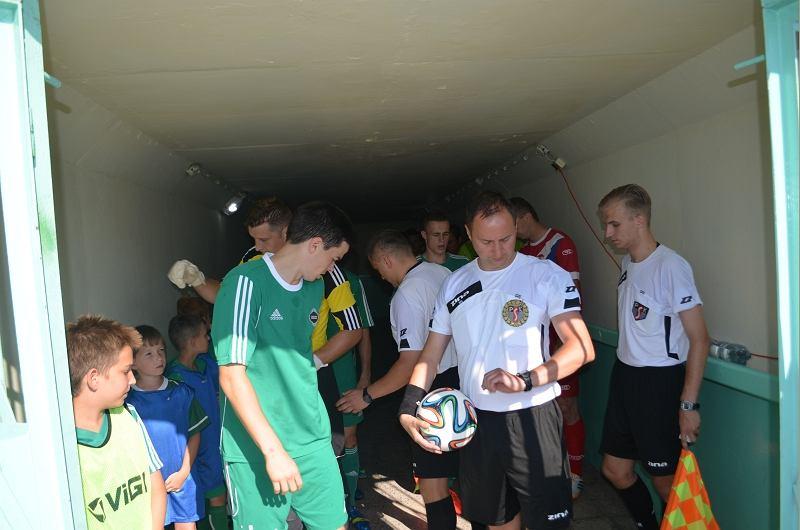 Rafał Sawicki prowadził m.in., mecz Radomiak - Sokół Ostróda 3:0