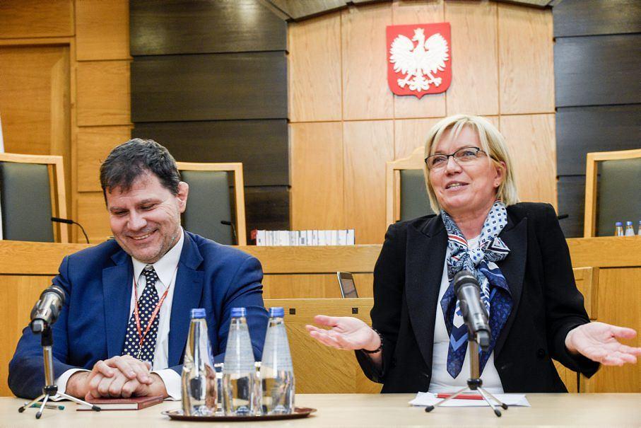 Prezes TK Julia Przyłębska i sędzia Mariusz Muszyński