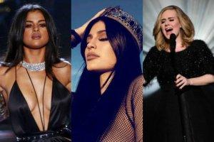 Selena Gomez, Kylie Jenner, Adele