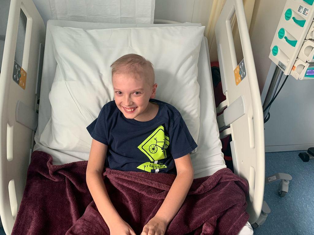Szymon, jeden z pacjentów wrocławskiej kliniki Przylądek Nadziei