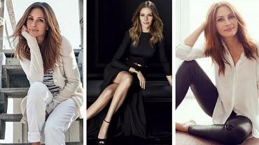 Romantyczny styl Julii Roberts. Stylizacje aktorki na co dzień, na wieczór i do pracy.