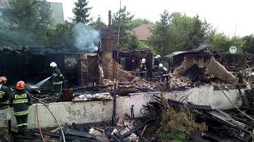 Pożar domu komunalnego