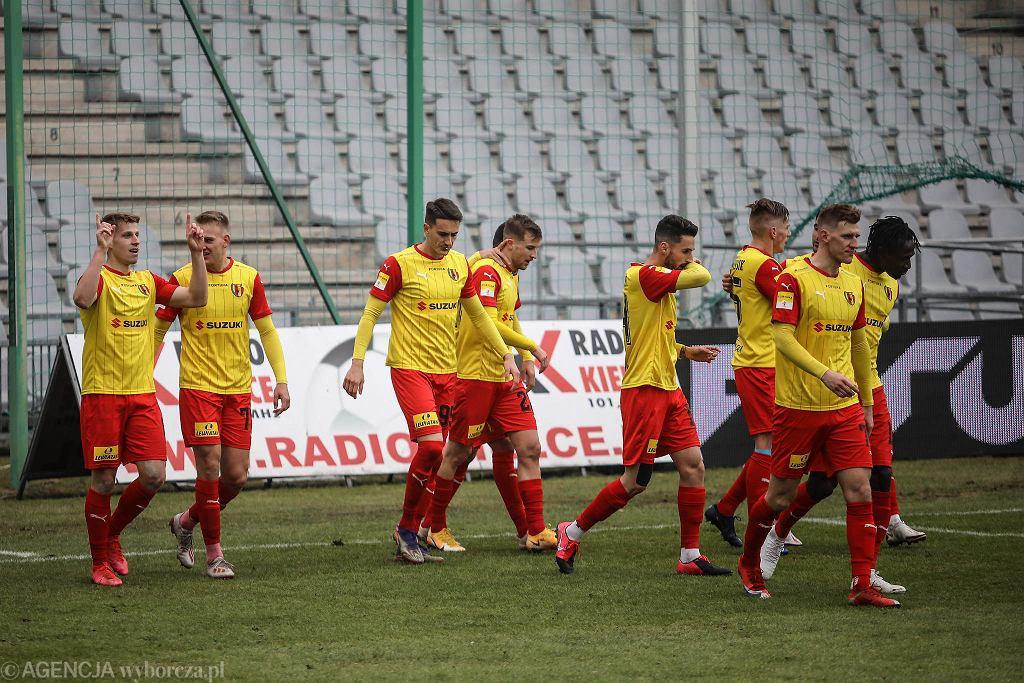 Kielce 28.02.2021. Fortuna 1. Liga, Korona Kielce - Chrobry Głogów 2:2 (1:1)