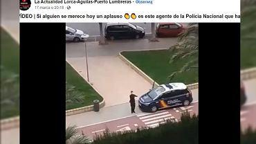 Niesamowity gest policjanta w Hiszpanii