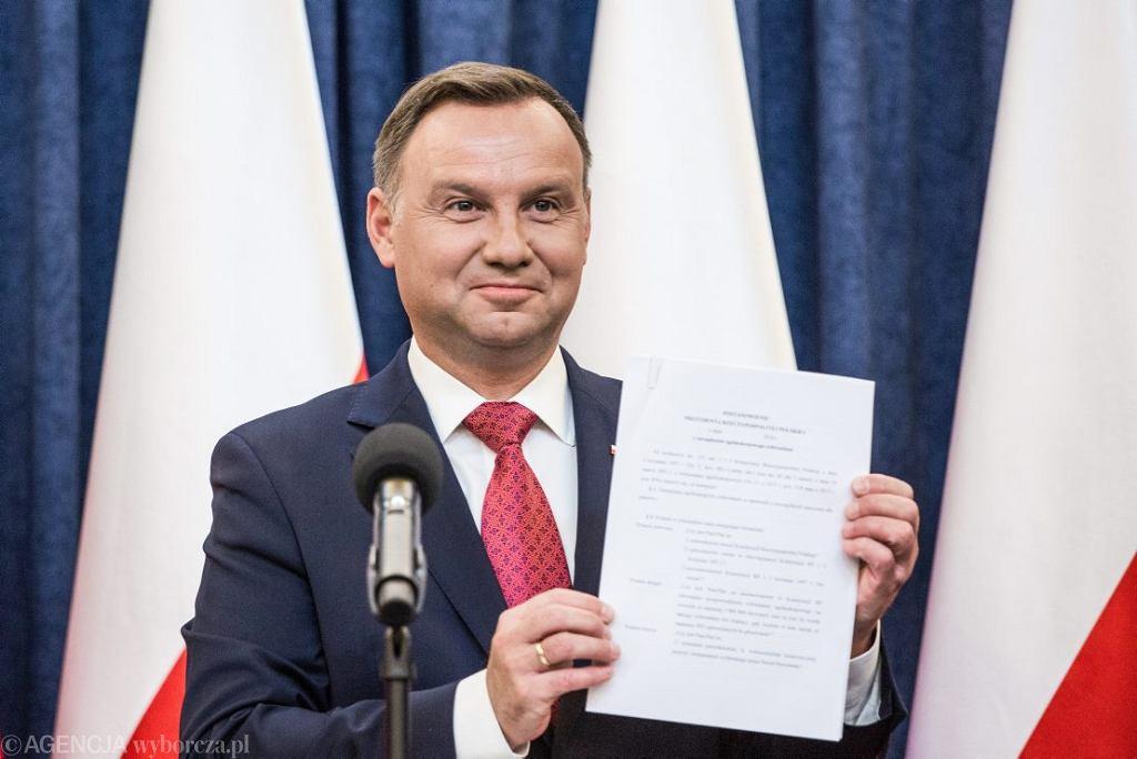 Oświadczenie Prezydenta RP Andrzeja Dudy w sprawie referendum konsultacyjnego dotyczącego konstytucji, Warszawa 20.07.2018