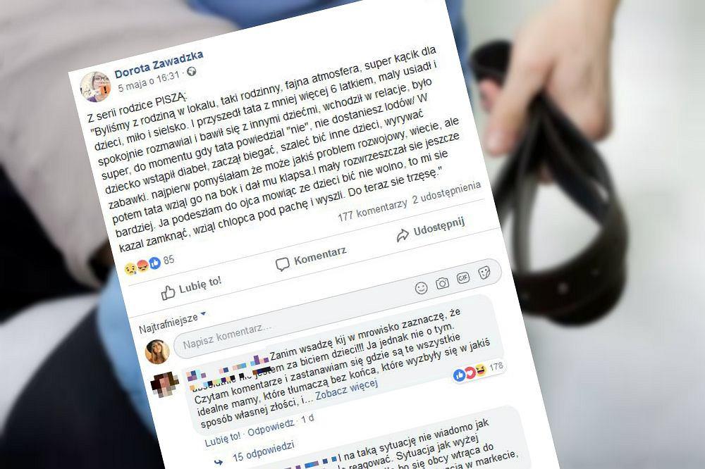 Dorota Zawadzka opublikowała list czytelniczki, która zwróciła uwagę obcemu mężczyźnie o to, że dał klapsa swojemu synowi