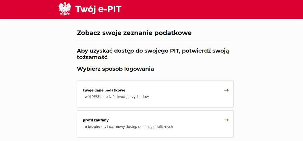 Profilu zaufanego można użyć, m.in. na portalu Twoj e-PIT