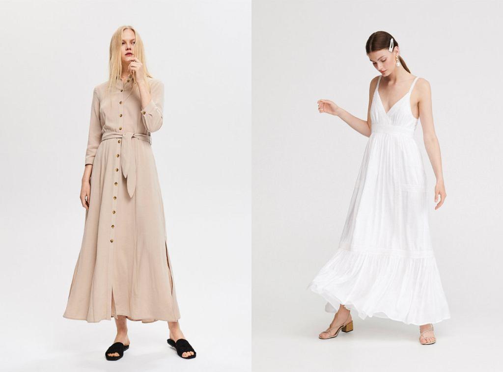 Długie, letnie sukienki w delikatnych kolorach