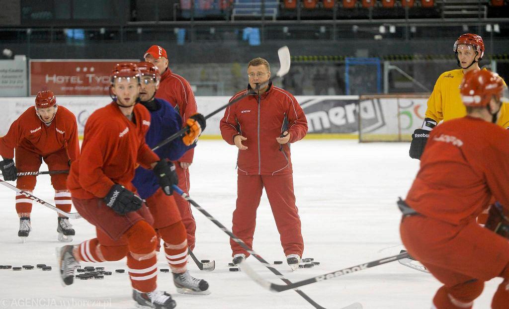 Trening hokejowej reprezentacji Polski w Tychach