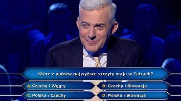 Milionerzy - Które z państw najwyższe szczyty mają w Tatrach?