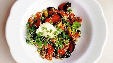 Komosa ryżowa z pieczoną marchewką
