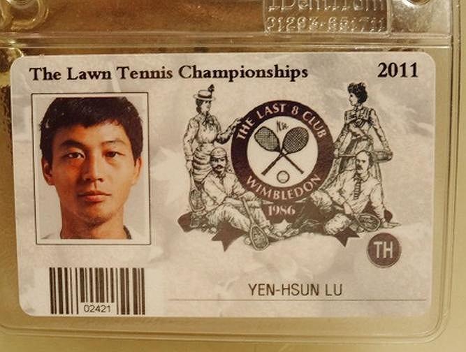 Tak wygląda wejściówka członka klubu Last 8. Lu Yen-hsun awansował do ćwierćfinału singla w 2010 roku.