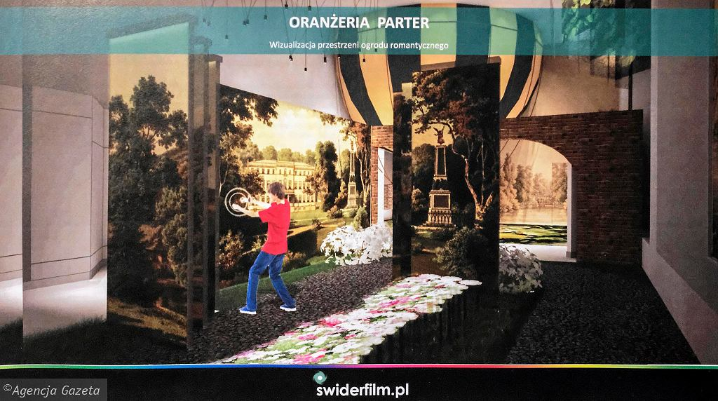Wizualizacja multimedialnej wystawy w Oranżerii