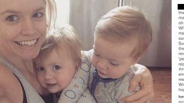 Anna Strode z bliźniętami