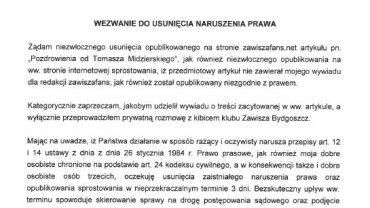 List Tomasza Midzierskiego