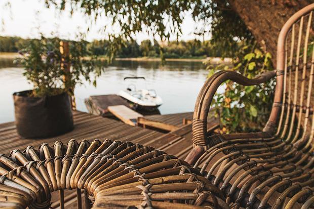 Rattanowy zestaw Cannes - sofa, 2 fotele, stolik/puf, Vimine Natural Wicker, Garden Space, Domoteka