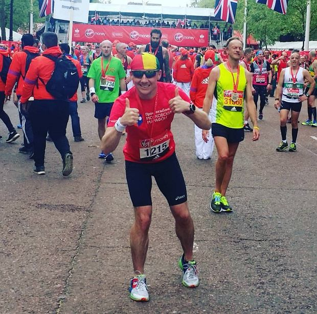 Marcin Soszka. Drugi Maraton w ciągu 24 godzi.  Belgrad i Londyn.